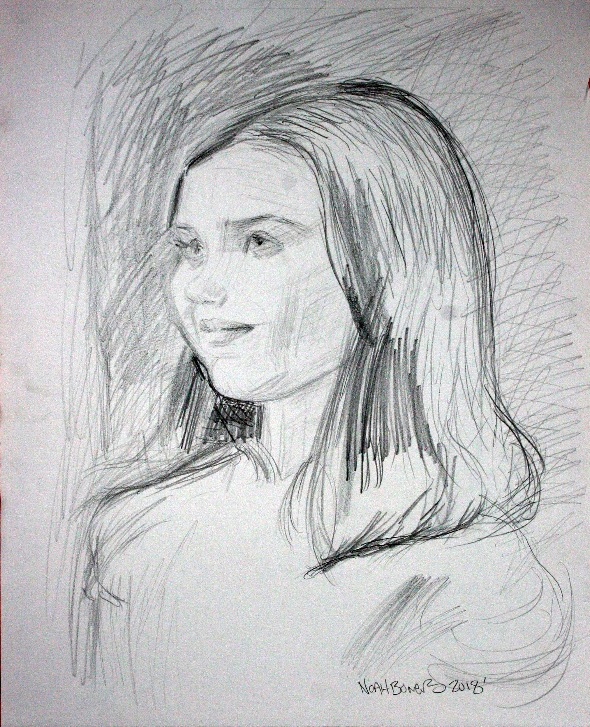 Noah Bowers did this drawing of Tillie.