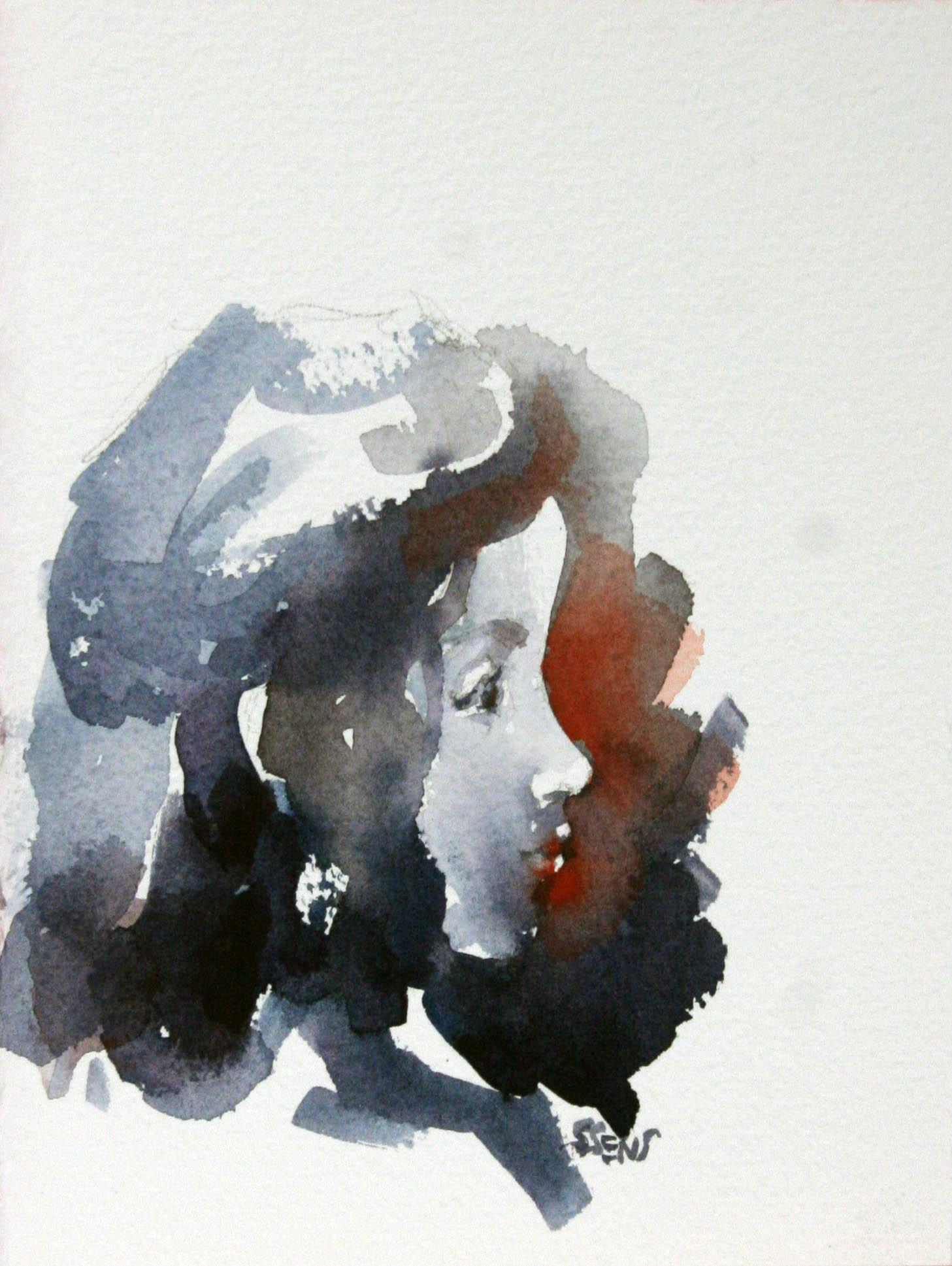 Steve Sens did this watercolor of Winnie.