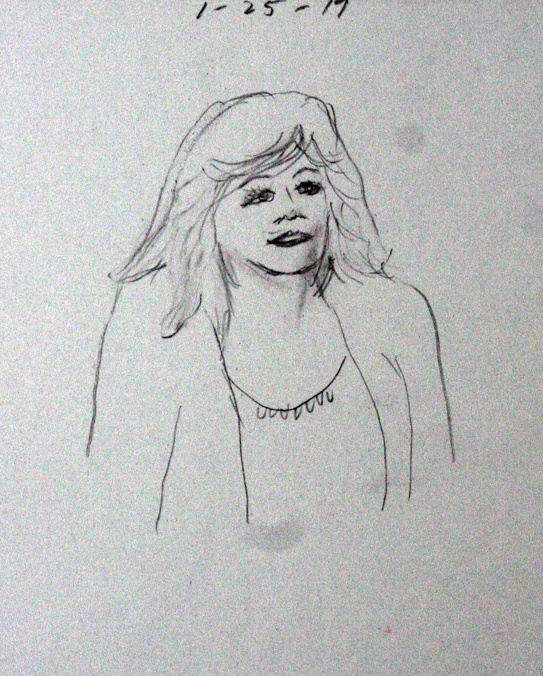Larry Williams did this drawing of his wife.