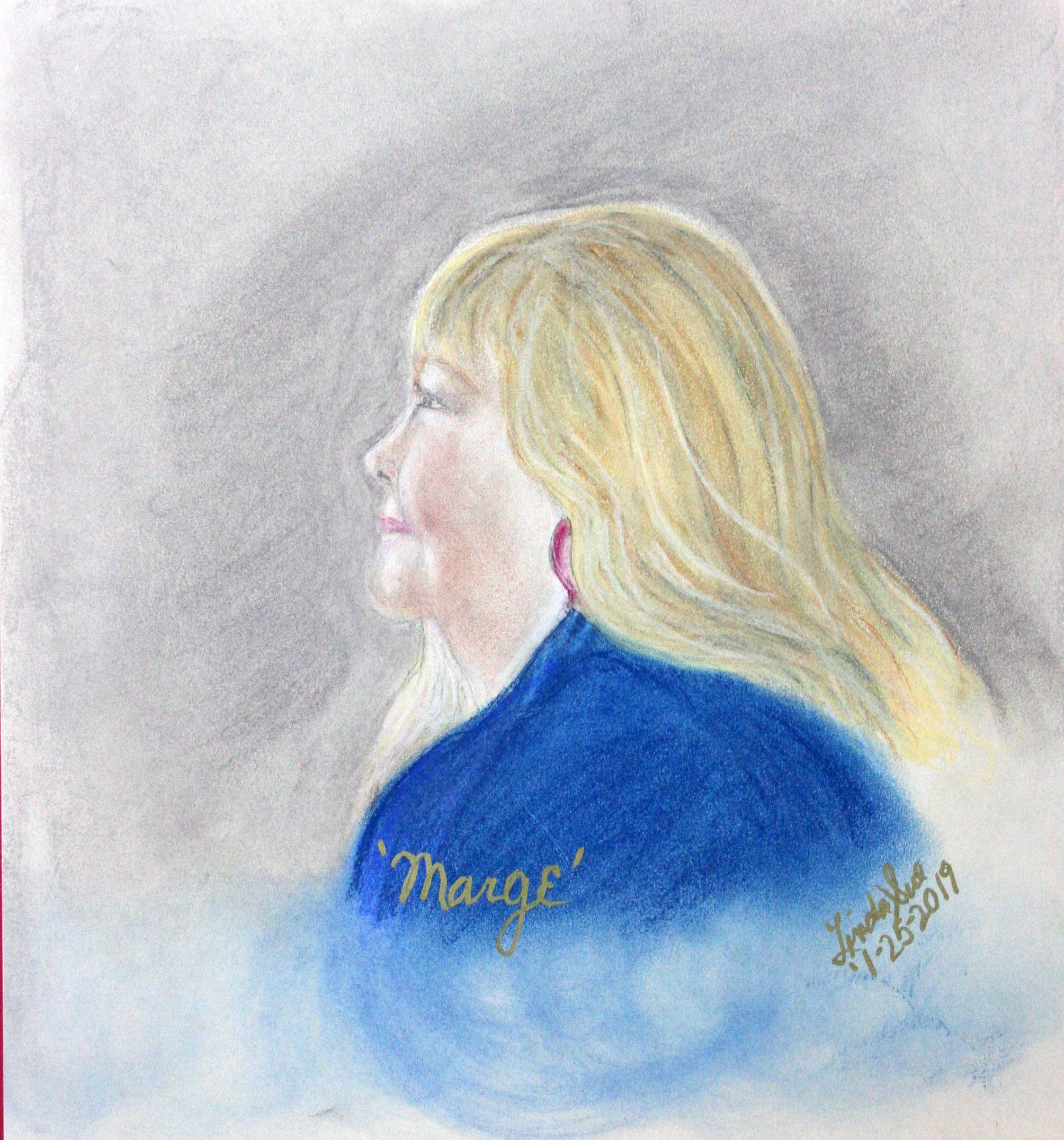 Linda Sue Morris did this pastel drawing.