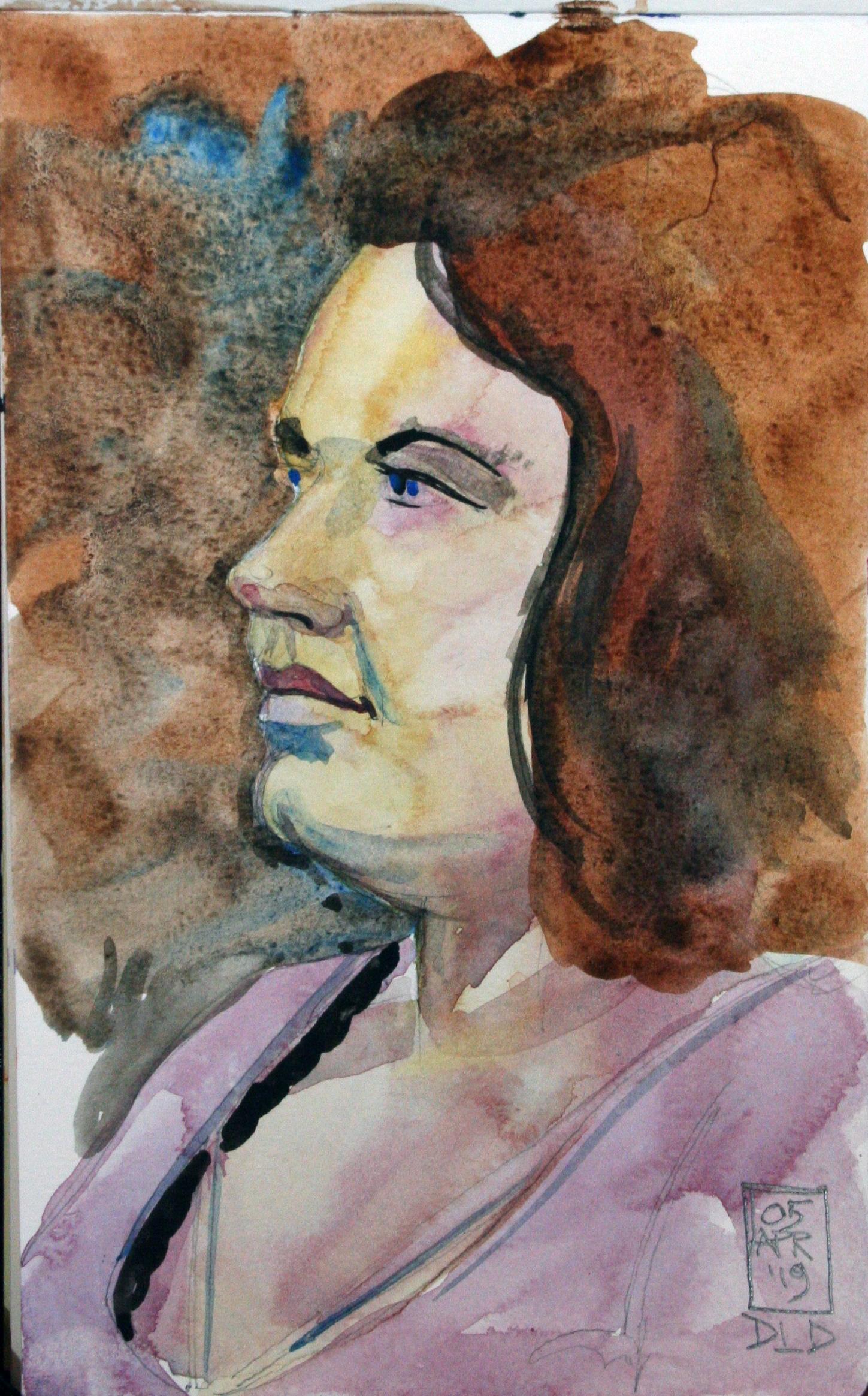 Duane Dickson did this watercolor.