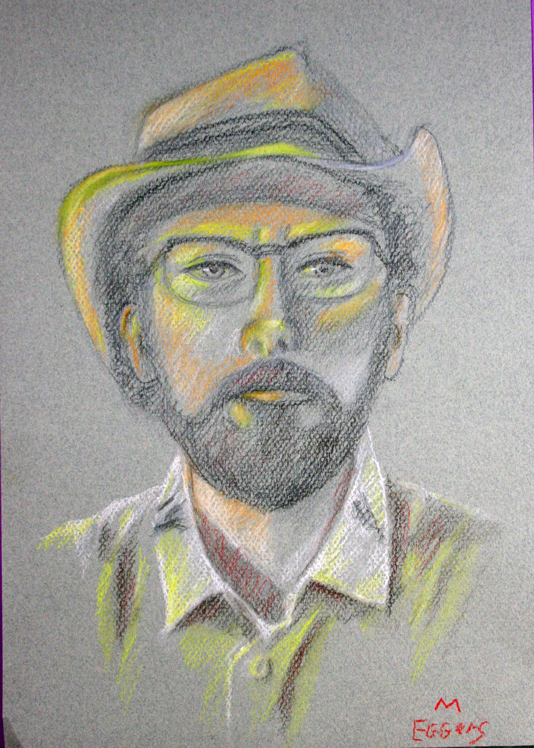 Bob Eggers did this pastel drawing.