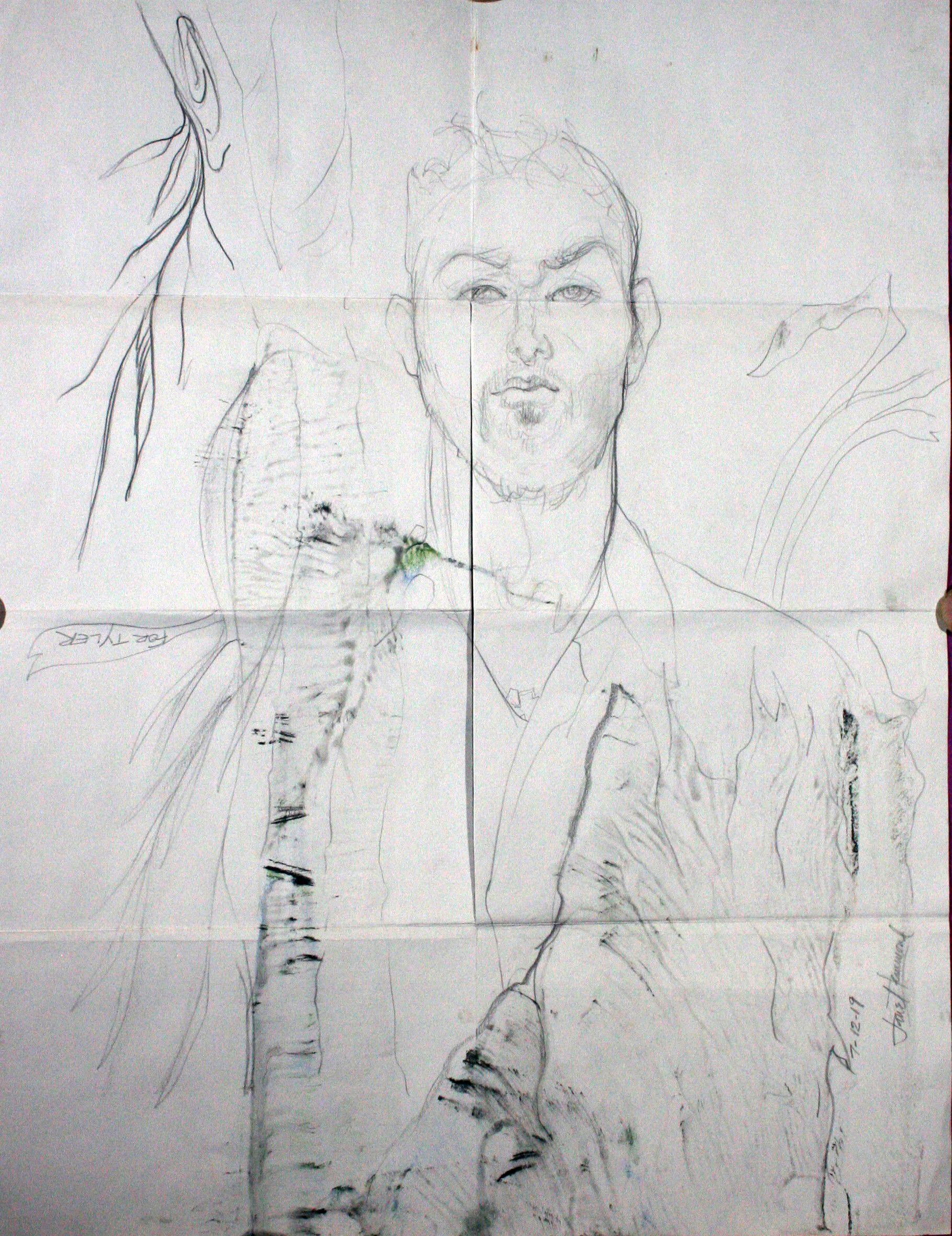 Jane Clay Teasley Hammond - pencil