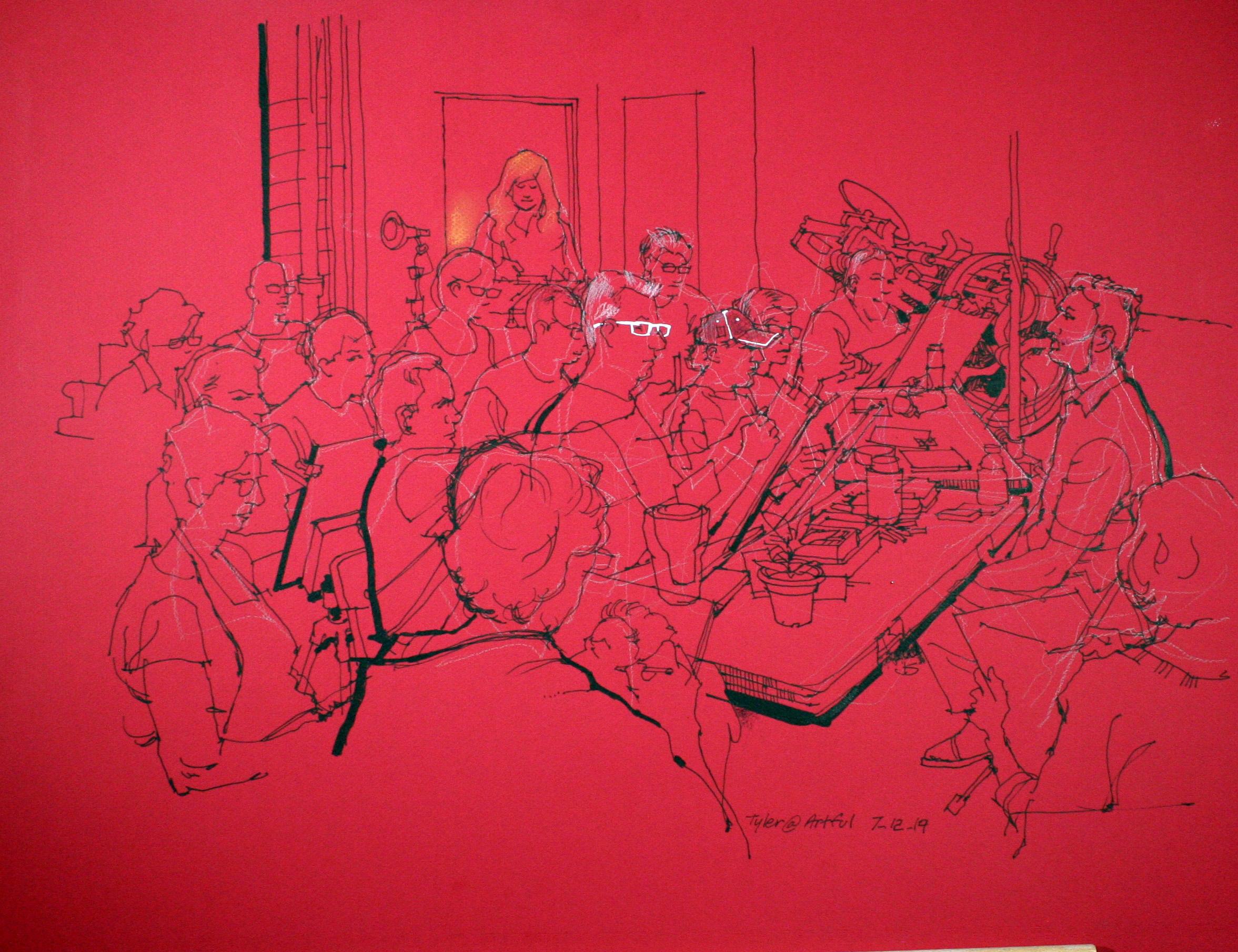 Jeff Suntala - ink and white marker