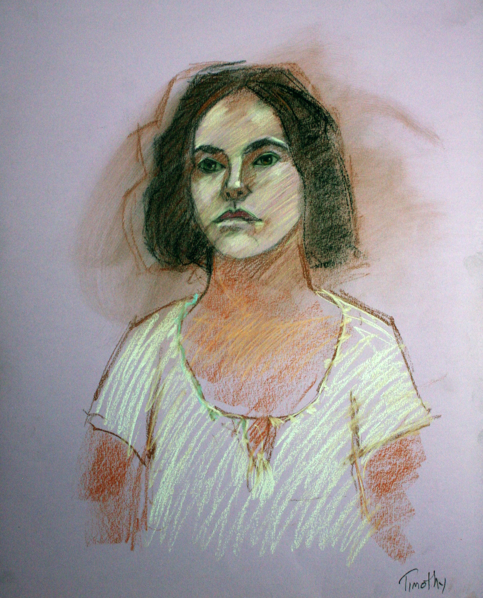 Timothy Herron - Conte, Charcoal and Pastels