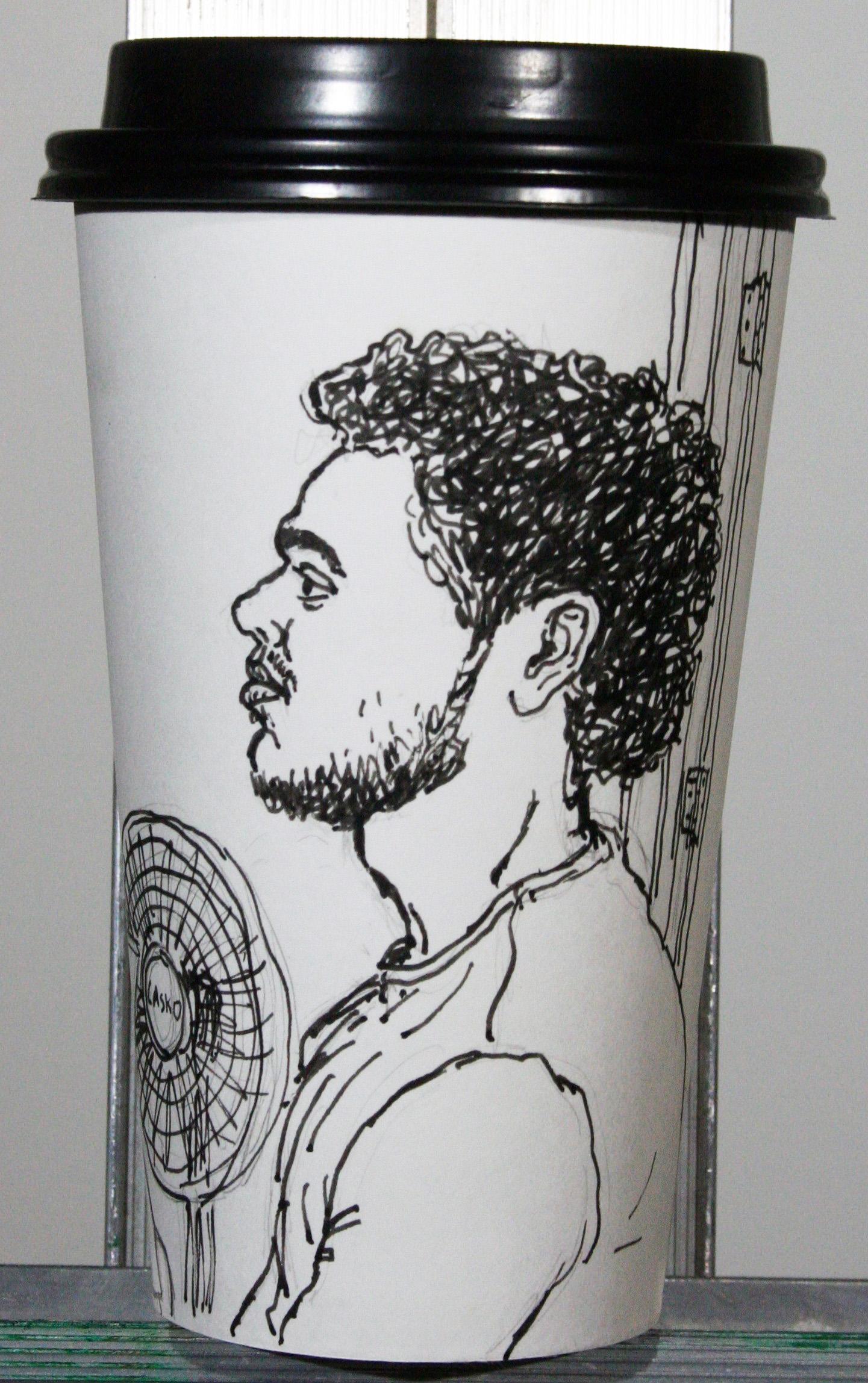 Jack Flotte - Ink (Coffee cup portrait)