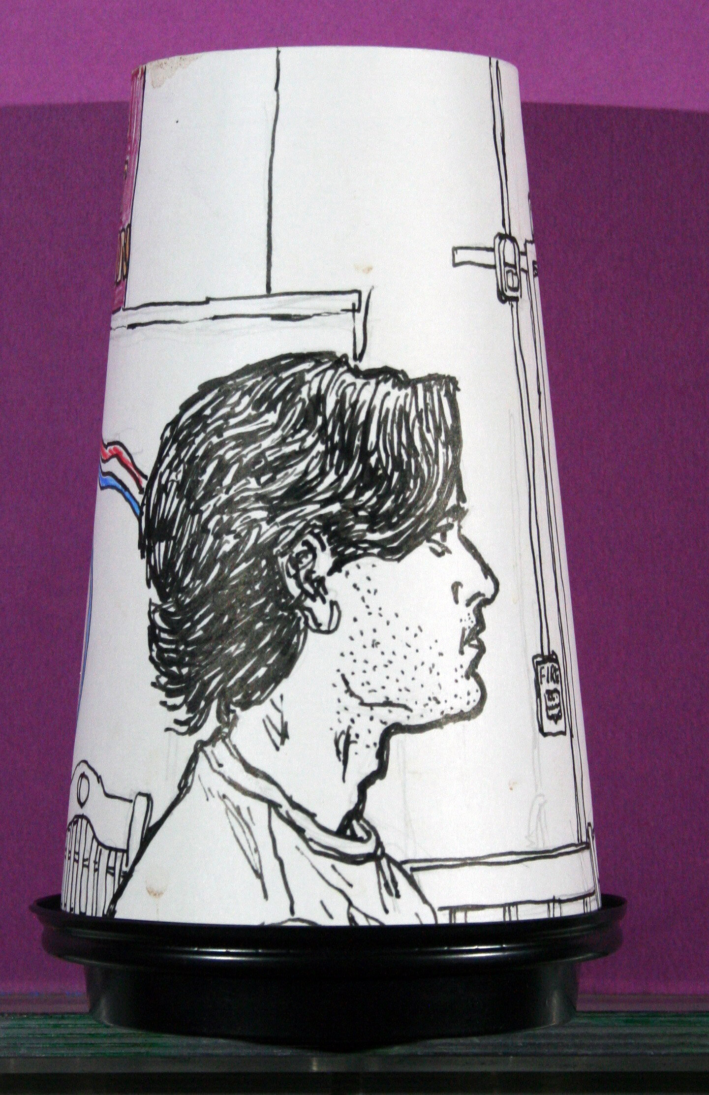 Jack Flotte - Ink on coffee cup