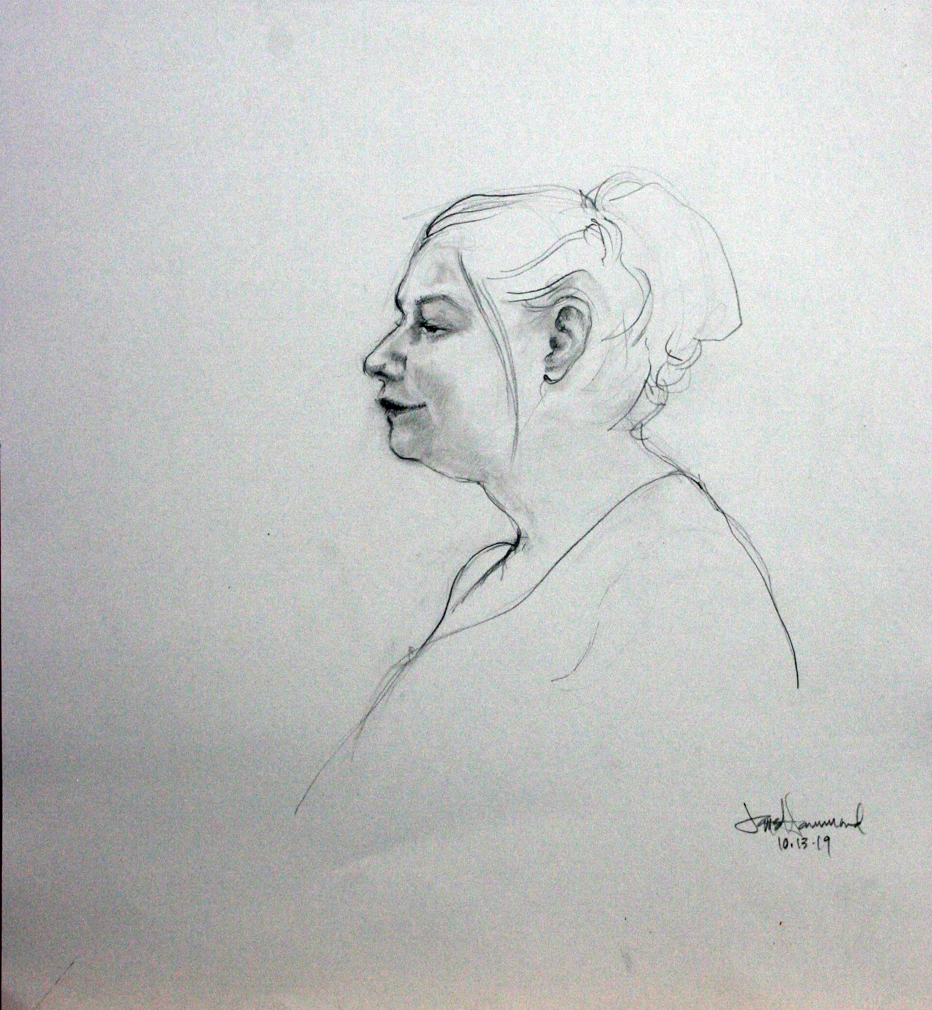 Jane Clay Teasley Hammond - Charcoal