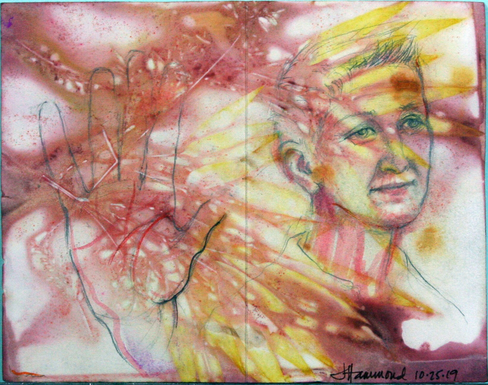 Jane Clay Teasley Hammond - mixed media on paper she created.