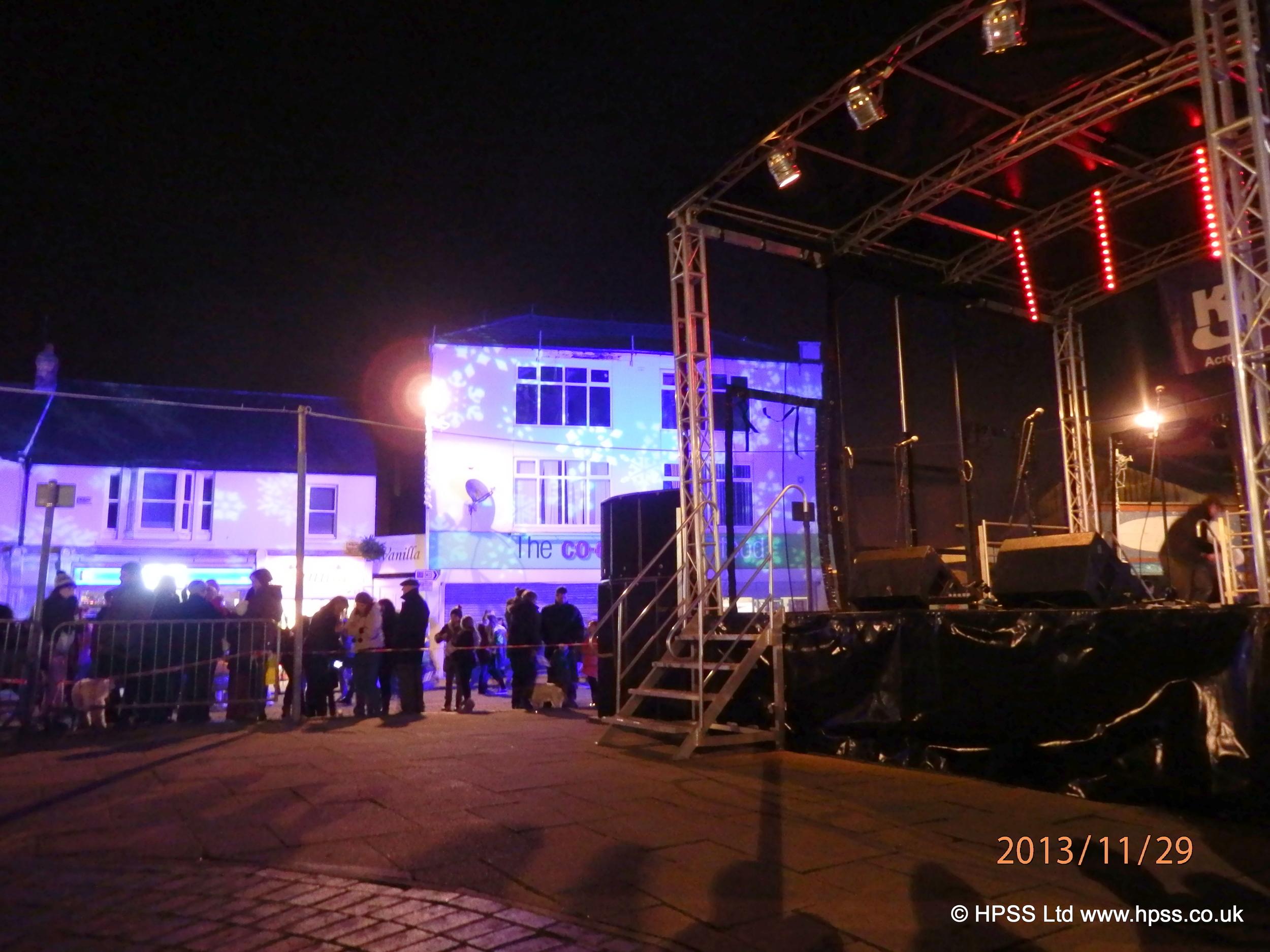 Stage for Christmas lights