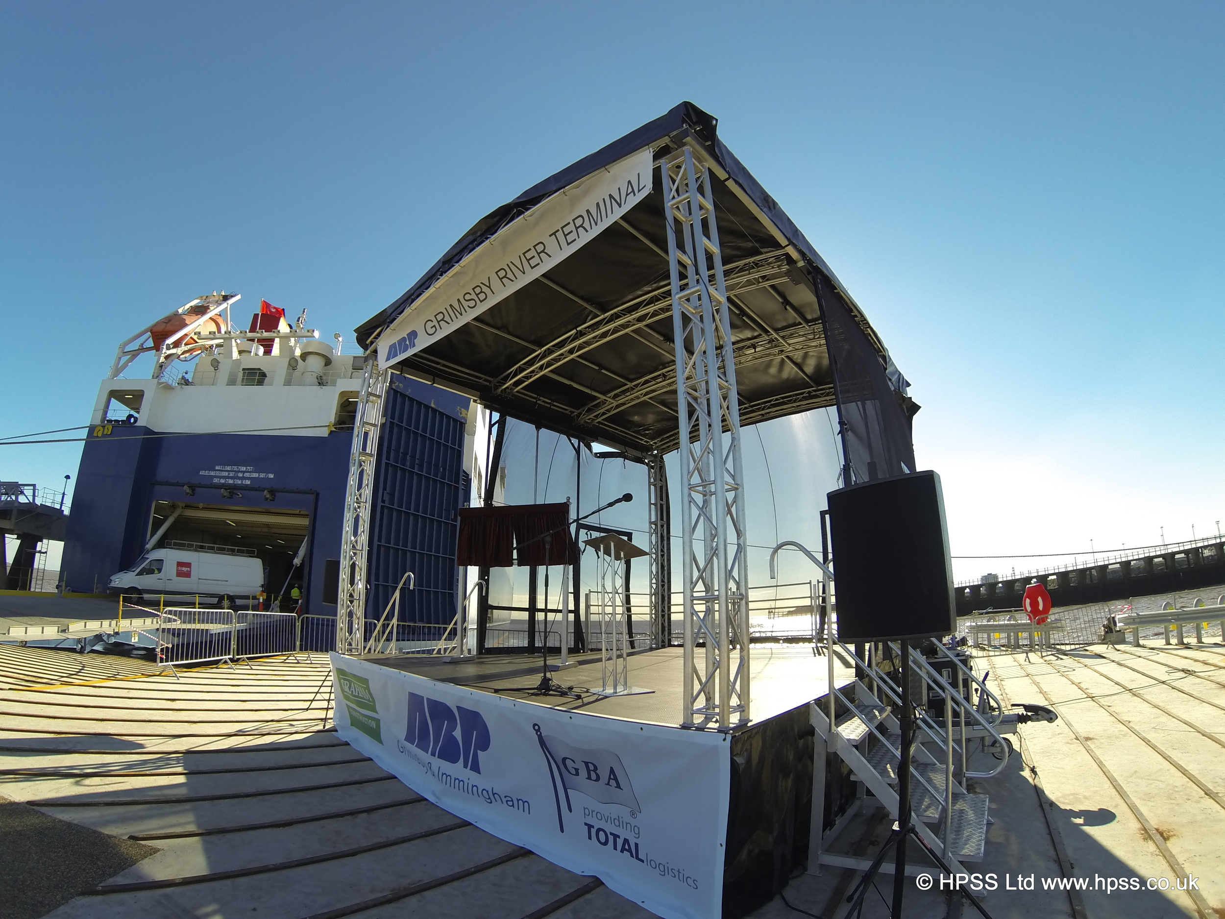 Stage ship pier