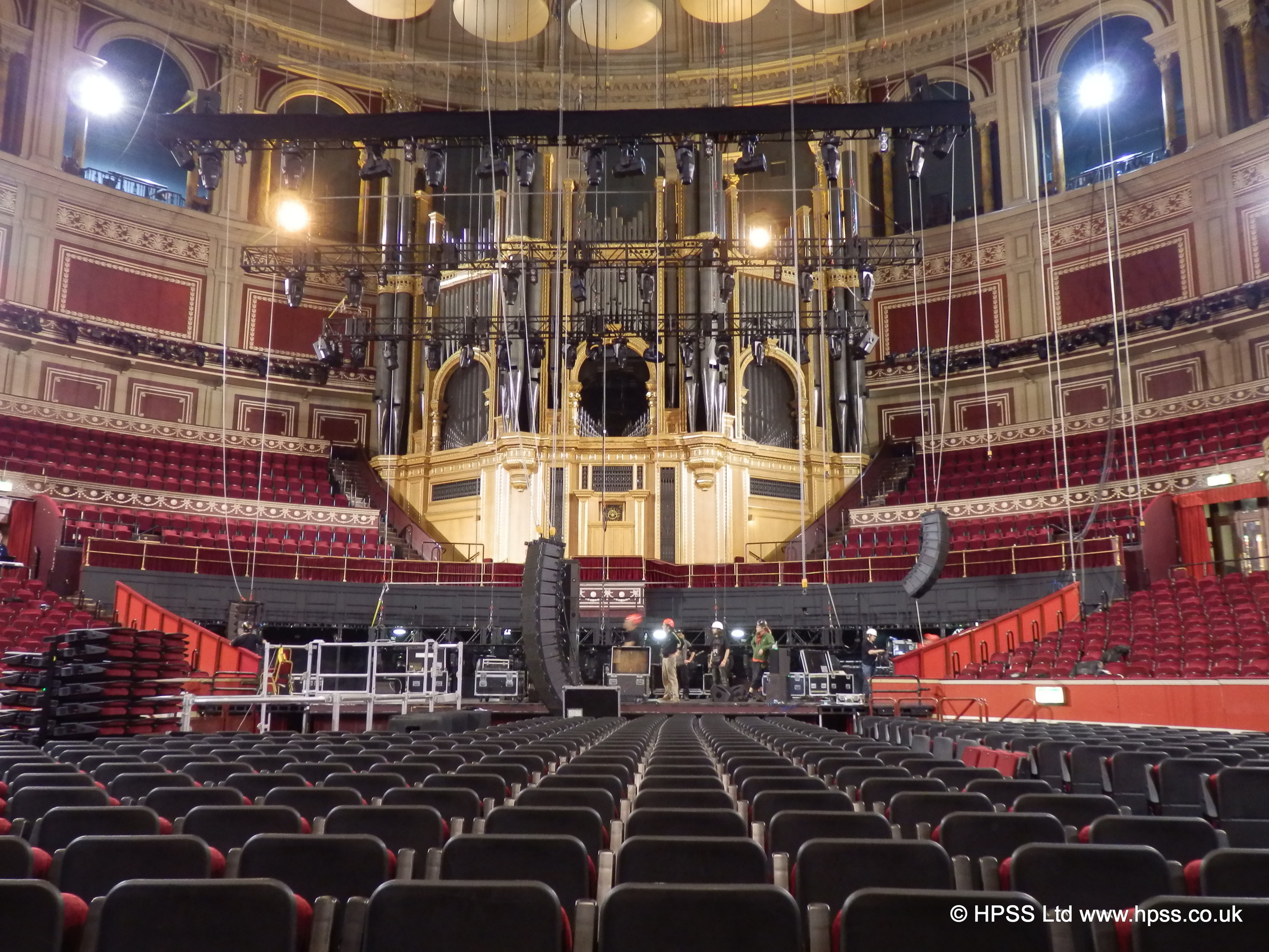 Flying audio system in the albert hall.JPG