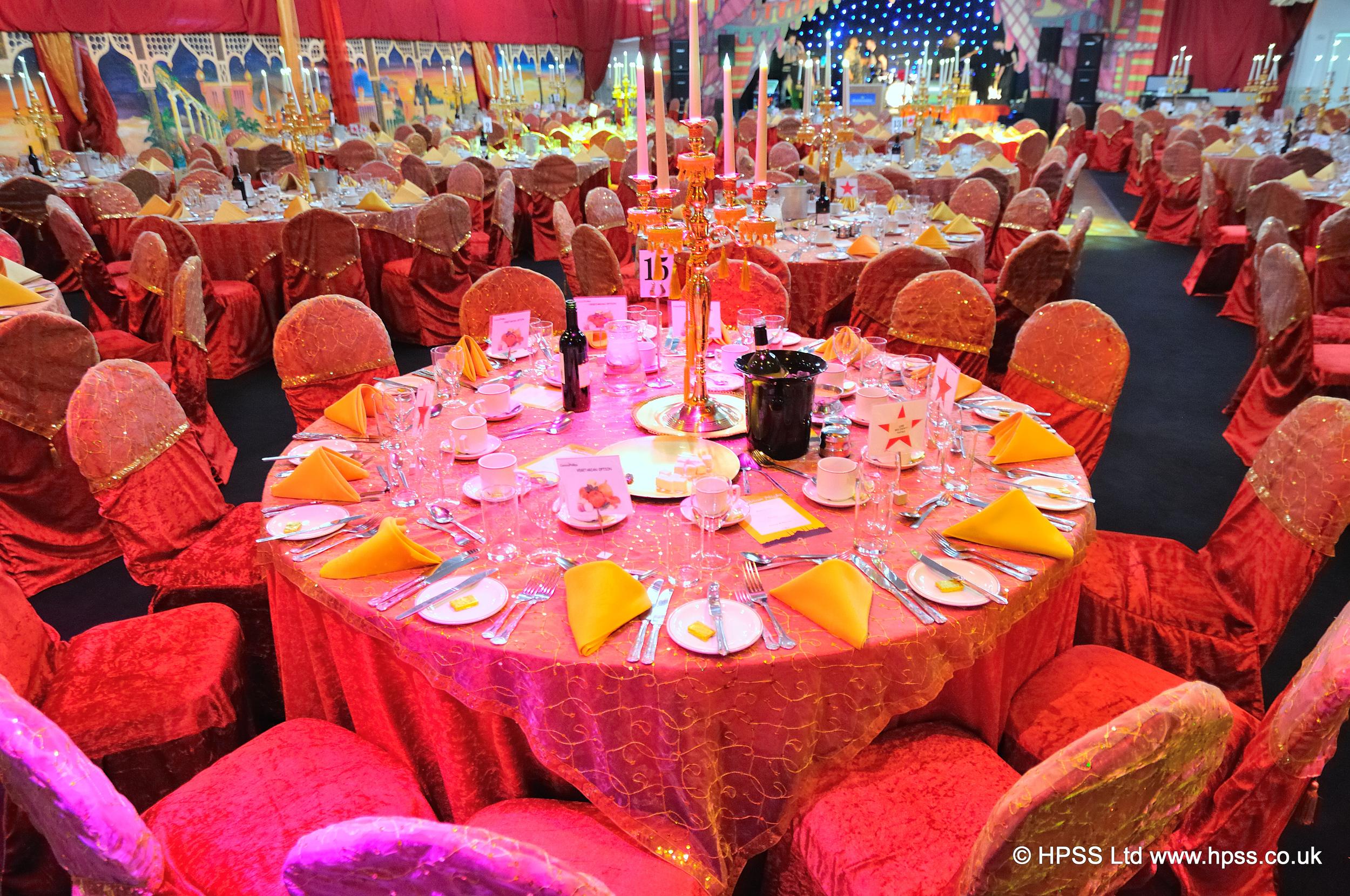 Themed table decor
