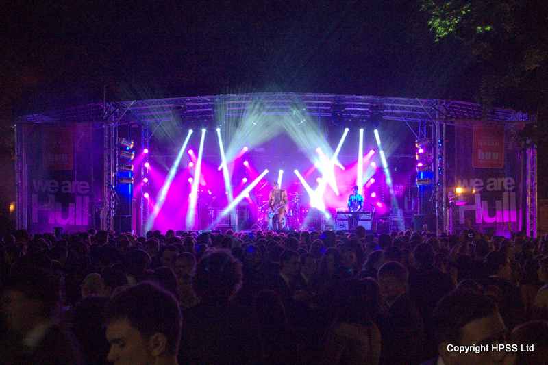 10m Stage with Sound, Lights and Banners