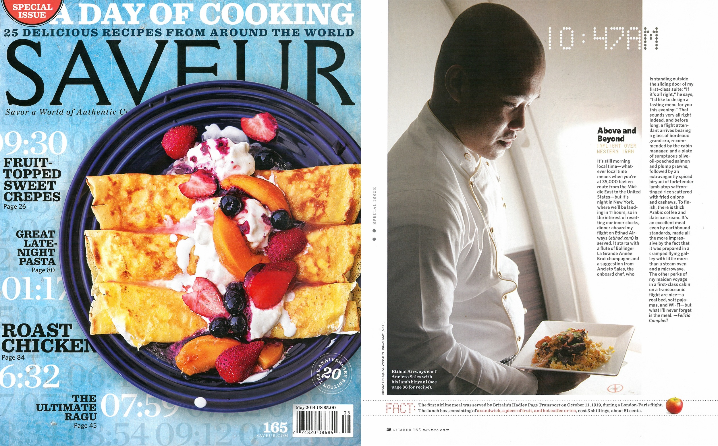 Etihad Airways' chefs in Saveur