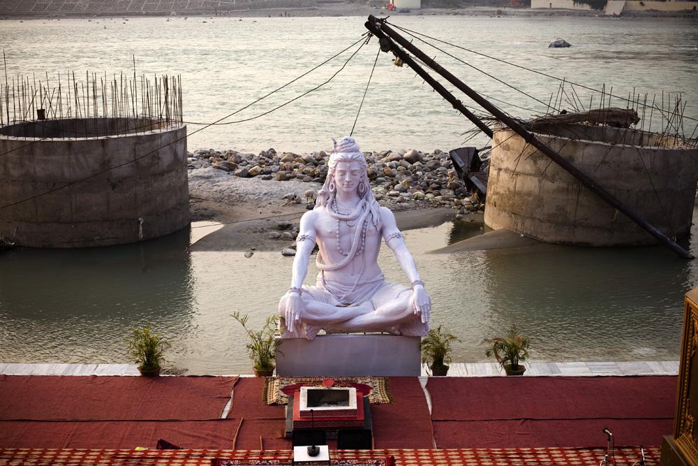 Shiva on the Ganges, Rishikesh, India
