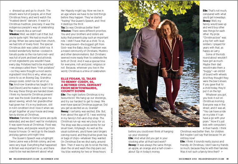 Reader's Digest UK, December 2012