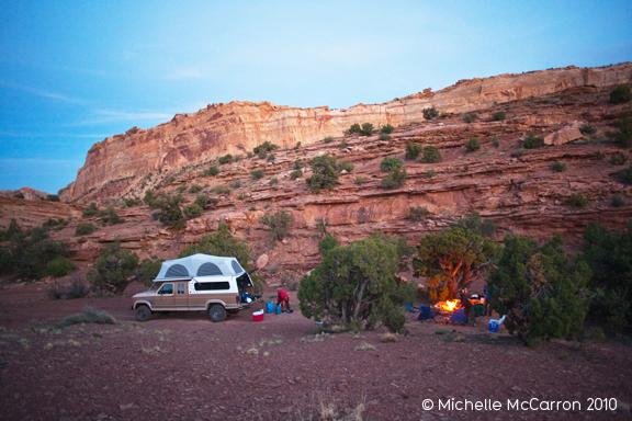 Camping in the San Rafael Swell