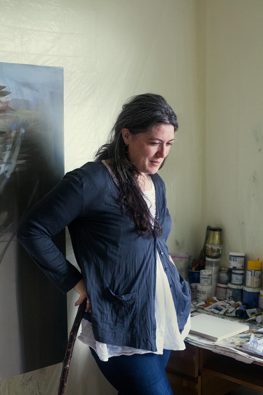 Nuala Clarke, painter.