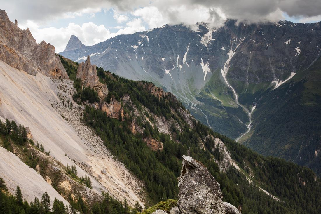 The unmistakable pyramidal peak of the Aliet on the Vanoise Massif.