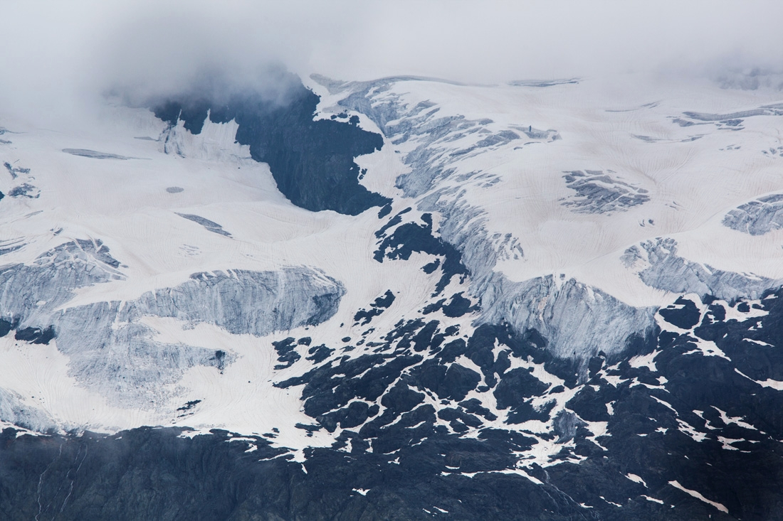 Glacier of the Grand Bec on the Vanoise massif. At the rate of current melting, many scientists predict that up to 90% of European glaciers could disappear by the end of the century.