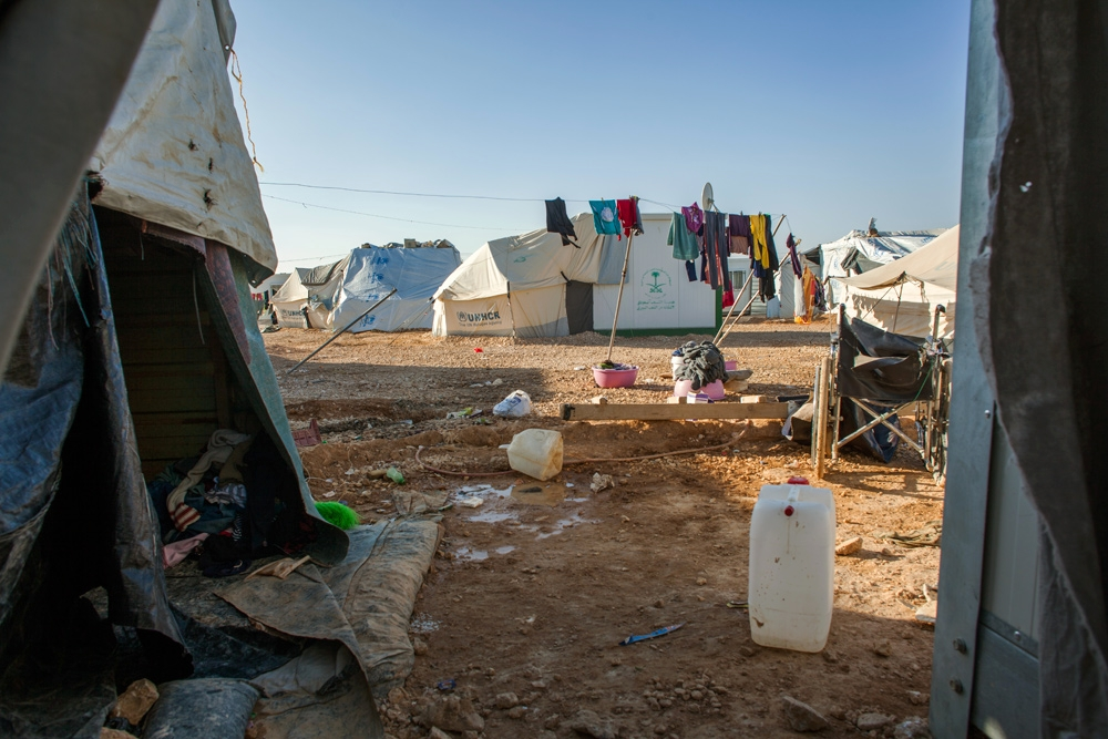 Zaatari is situated in the middle of the Jordanian desert and living conditions are basic.