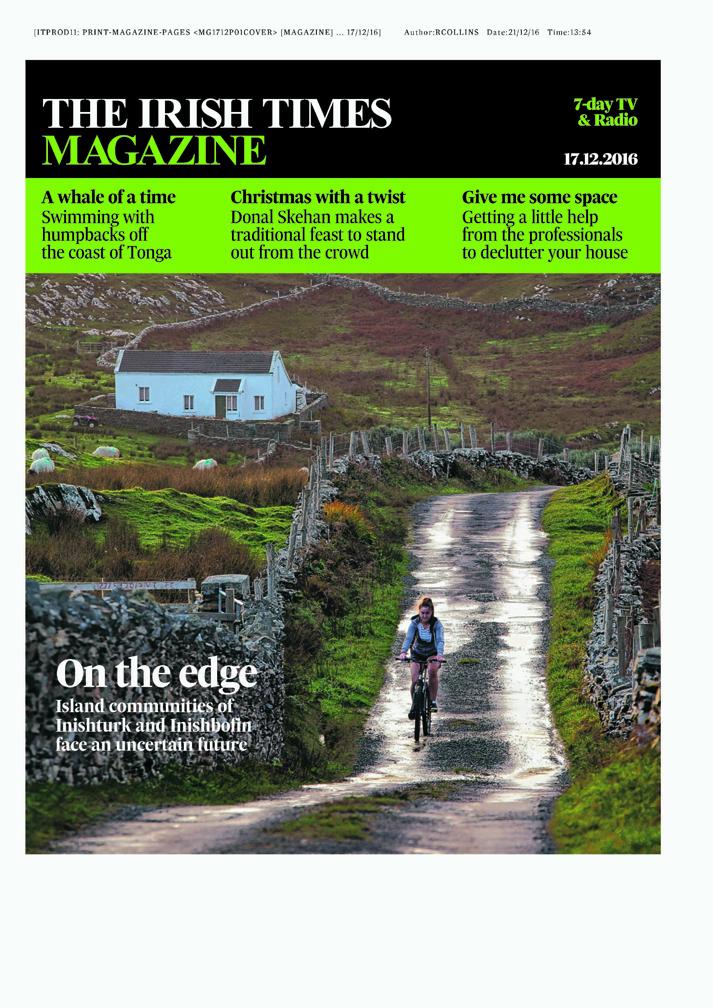 Irish Times Magazine Cover Story - Dec 2016