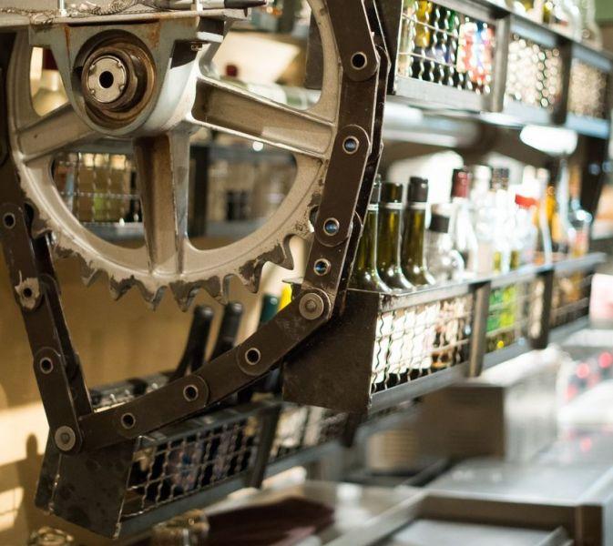 Bramble & Hare mechanical rotating bottle rack