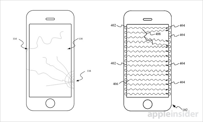 Apples recent patent for cracked screens. (Courtesy of Appleinsider.com)