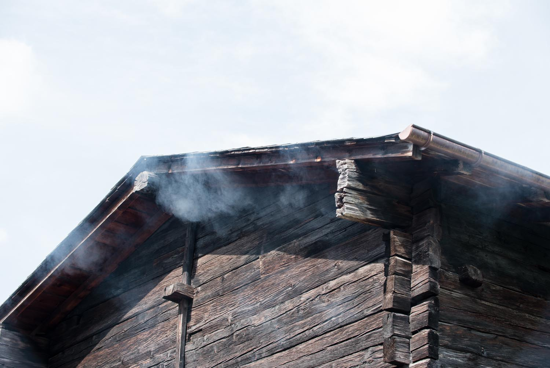 Warteraum I, Installation mit Rauchmaschine