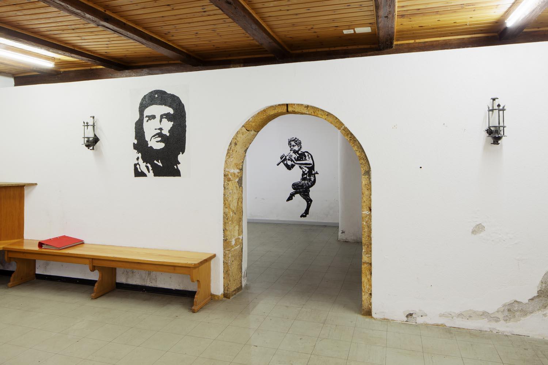 Installationsansicht Jugendlokal Ernen