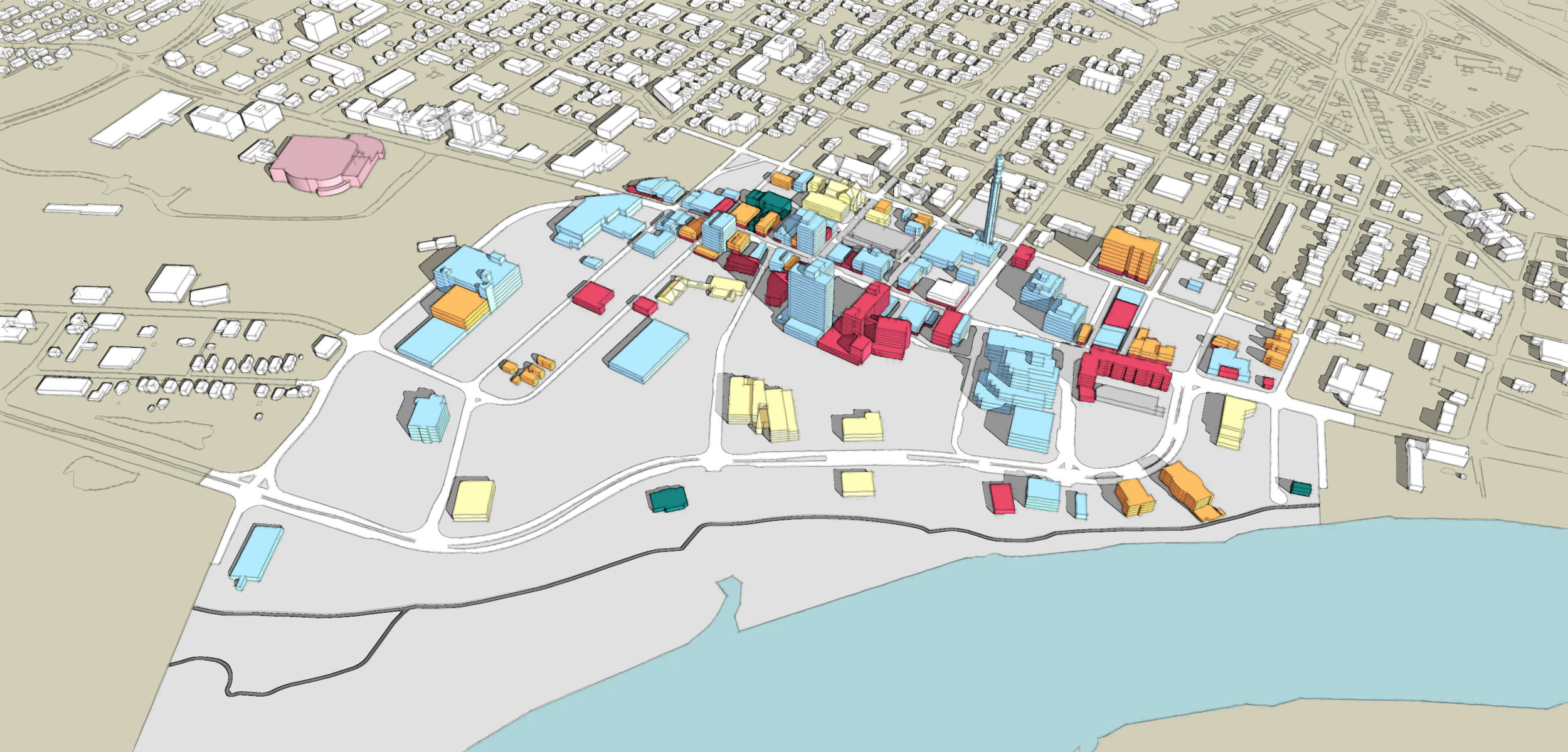 Present-day Downtown Moncton