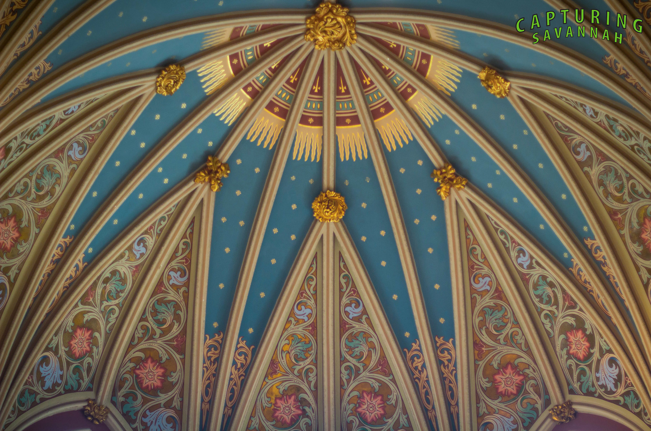 The Saint John's Cathedral is a Savannah treasure! All the paintings, 3-D images, stain glass windows, ect, make for amazingly beautiful images. There are multiple chances for great symmetry imagery throughout the Cathedral.