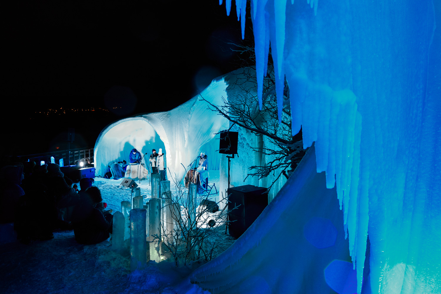 The University of Bergen's amazing ice stage for the Ice Music Festival 2016