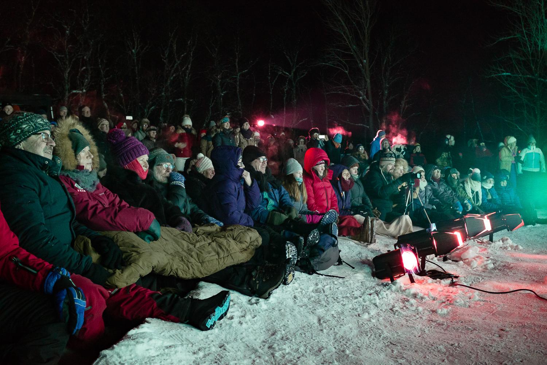 Still air, a full moon and -20ºc = a perfect Ice Music Festival. Photo:  Emile Holba