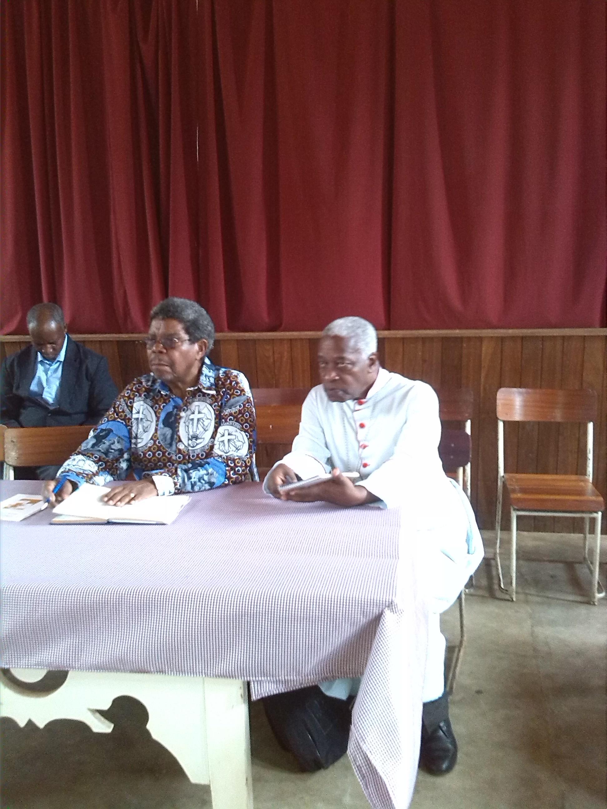 His Lordship bishop Bruno Ngonyani bishop of  Lindi diocese.