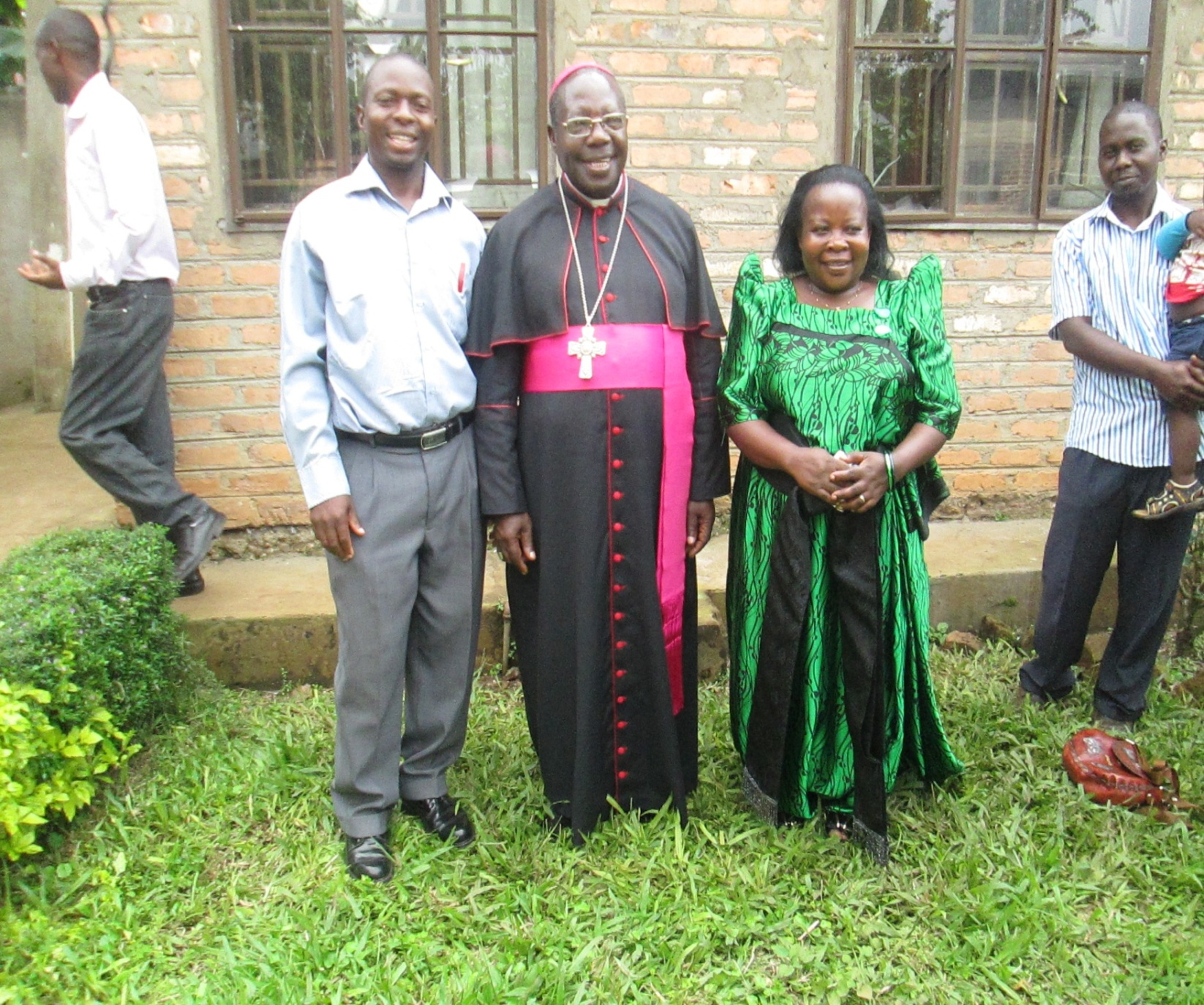 Bishop Rev. John Baptist Kaggwa Gonzaga and Paskazia