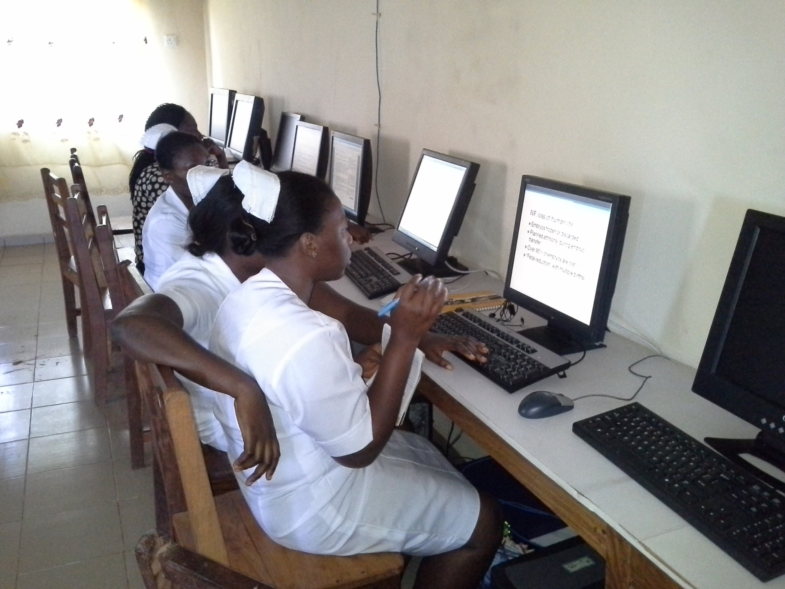 Midwife School Computer Training