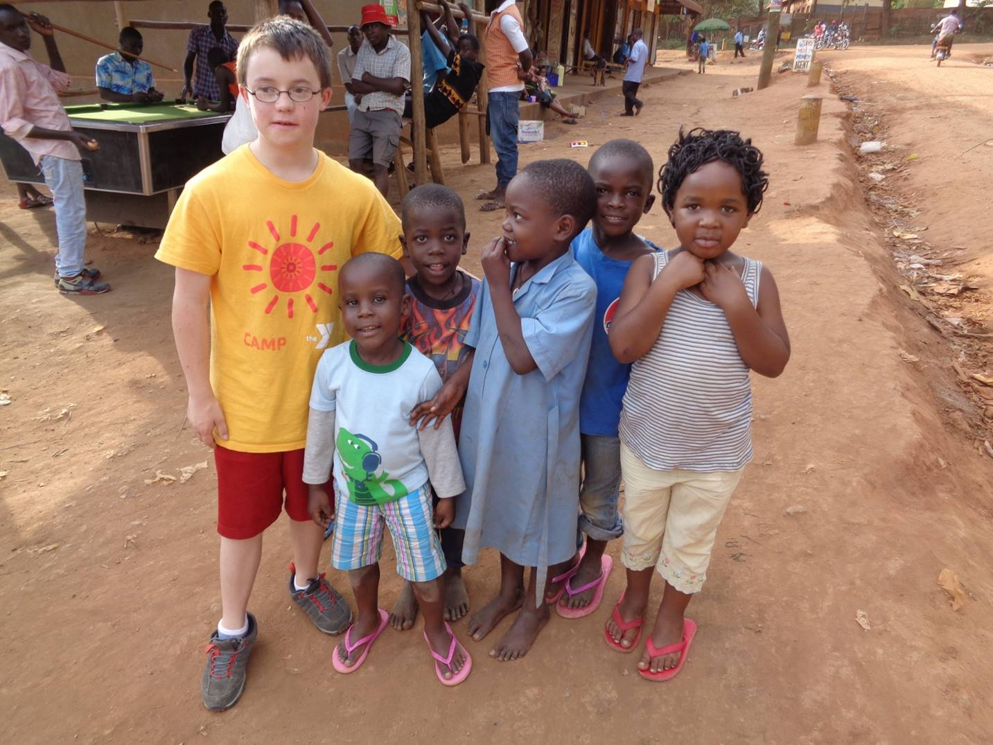 Liam Mulcaire-Jones and Ugandan friends