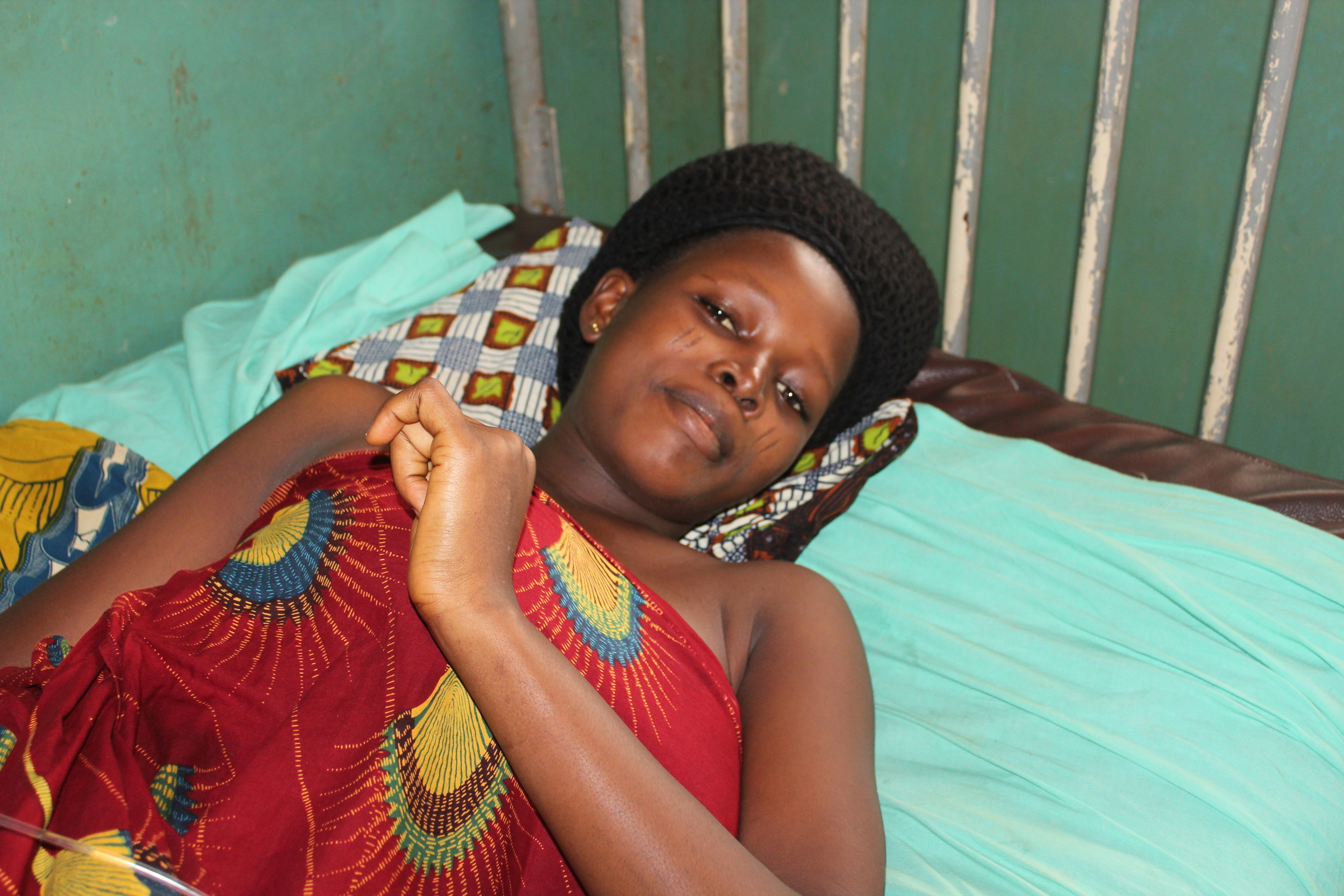 Mother Resting after Cesarean Section, Nigeria