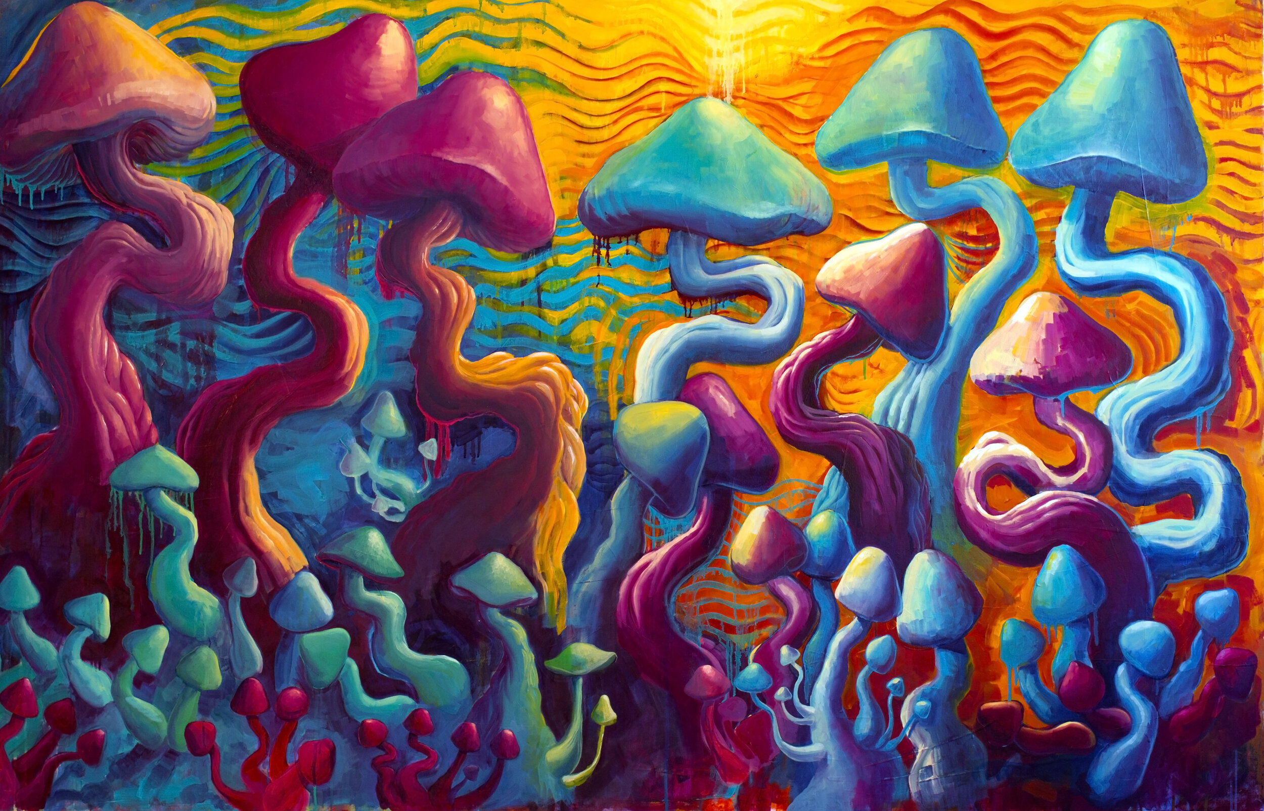 MUSHIES - 2013. Oil on canvas.48