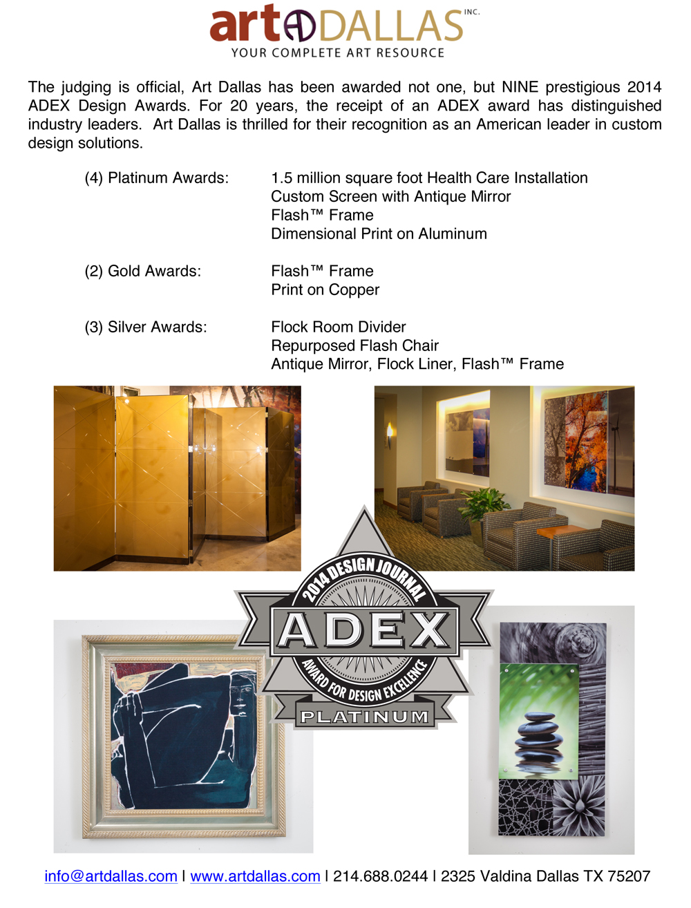 ADEX Award Tear Sheet