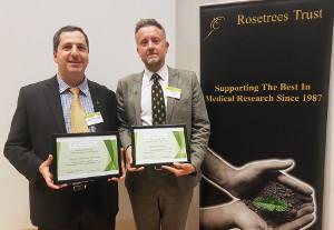 James Dear (right) - 2017 Rosetrees Trust Inderdisciplinary Prize