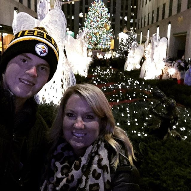 """I look at this picture and it brings happy tears to my eyes for many reasons. 🗽🎄 .  When this giant boy of mine was young trips like this were for """"other"""" people. People who had great jobs that paid well. Not someone who who owned a small clothing store in a small town and who's husband was a paramedic making just a bit over $13 an hour. .  I had always wanted to take my boys to NYC. To experience the magic of this city with them. It was a far off dream. .  For many years Robert and I knew we needed an additional source of income to make ends meet. We tried a few things and like I always say, we failed forward. Those didn't work but what did end up working out was the opportunity to be a health and wellness coach for a top fitness company. .  We said yes let's give this a try. What do we have to lose but maybe a few pounds. The business did not take off right away. We had to work hard at it. But anything good is worth working for right? .  Now several years later Robert and I are still health and wellness coaches and living out some of our dreams and achieving many goals. It was a special day when i told Bryson we were going on a Mother Son trip to NYC. We had the BEST time and he saw the magic of this city. 🚕🗽 .  Today a big part of my job is teaching others how to be successful as a health and wellness coach. Often times it starts with just helping the person feel more confident and then teaching them how to help others. It's fun and rewarding. We have a great community mostly made up of stay at home moms. .  If you have a desire to be healthy, maybe you already are and you want to help others do that same and grow an income, then message me. Let's chat and see if this is for you. 🙂"""