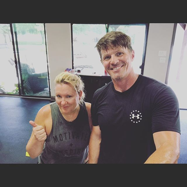 """There are days like today where I needed my hubby and he needed me to get our workout in. 💑💑 . Most days we either head to our home gym and get our workout in together or separate depending on which program we are both doing. . Today we needed each other. He ask me what workout I was doing and we decided to get our newest program started. . We found out the first workout is only 15 minutes. Yeah 😀😃 SWEETNESS But then @rbhudgens said let's pick up Ty from school and then do it. Hmm another delay. . Ty needed picked up in 20 minutes. So that's a 7 minute drive leaving us only 13 minutes to workout. Not enough time right?? WRONG!! . I came back in and said """"No, lets get this in NOW and text Ty that we will be 10 minutes late. He can wait."""" . We got our workout in and it felt great!!! 💪🏼15 minutes and now a shower. 😂 Robert went to get the boys.  See my story for some of the moves. We have a group going over on Facebook if you too want to do this program at home. Just message about how to join. #couplesgoals #workoutpartner #faithlovefitness #tennisgirl #shiftshop #homegym"""