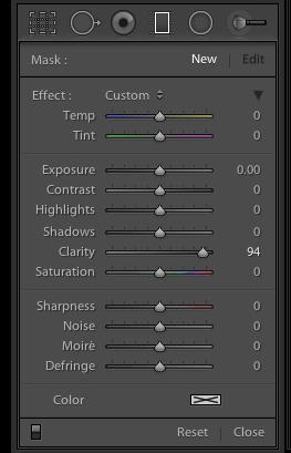 Graduated Filter Panel