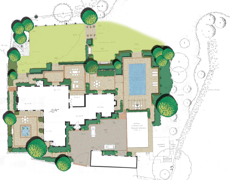 Coloured landscape plan -  Click to enlarge