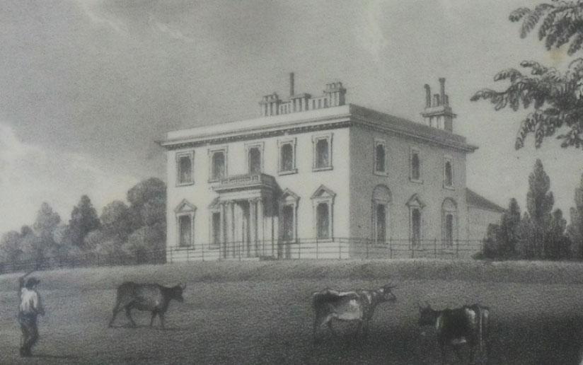 Engraving of Broughton House, 1838