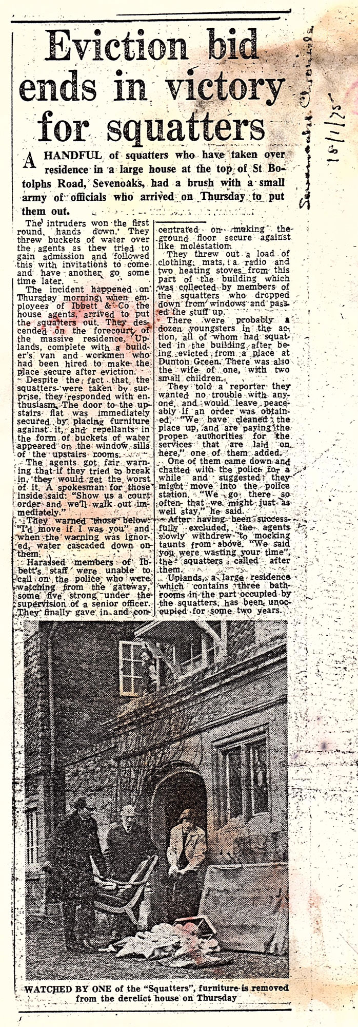 Newspaper article from 1975.