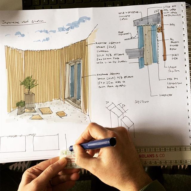 Nothing like a good hand drawn sketch @neiledwards007 #sketch #handdrawing #architecturedrawing #designdrawing #drafting #housedesign #patio #